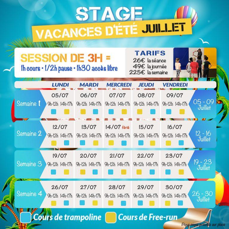 Stages juillet