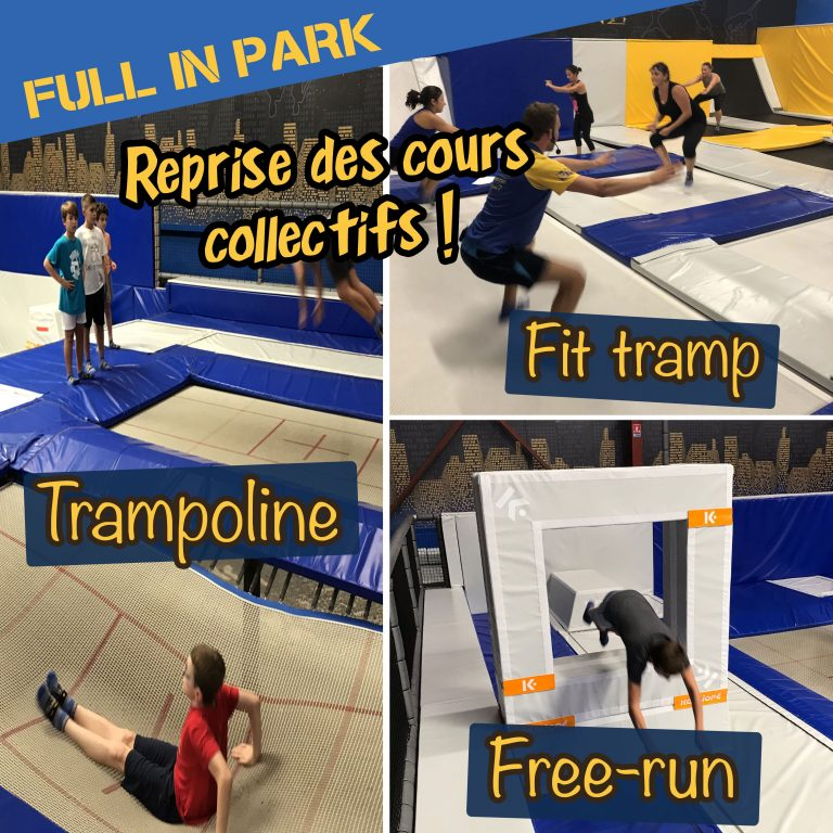Cours collectifs trampoline free run et fit tramp